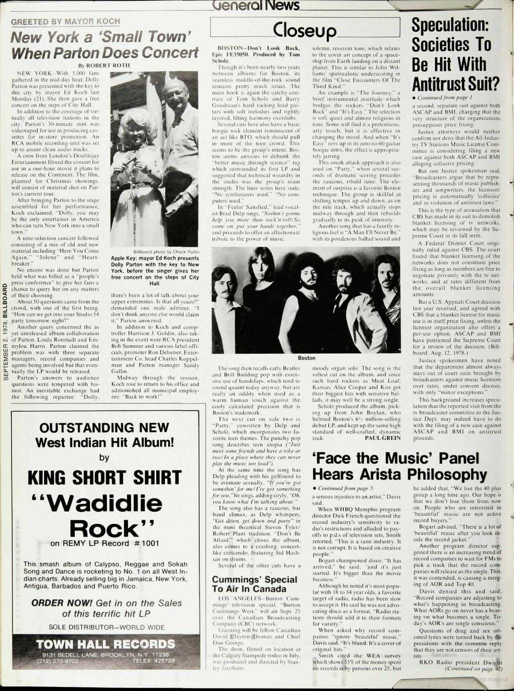 I A Billboard Publication The International Music Record Tape Byo Concert Small In Sand Newsweekly Sept 2 1978 1 95 U S Two Sections Section Pdf