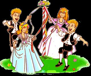 May 1st: May Day (UK) May Pole Dancing Make a flower garland/hoop to carry