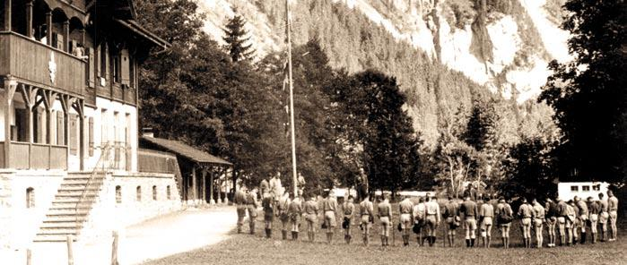The Swiss Chief Scout, Walther von Bonstetten, made this dream come reality, together with Baden-Powell and the first director of the World Bureau.