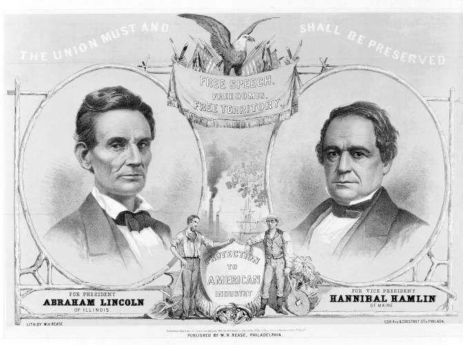 Document 5 A print of Lincoln and his Vice President (Election of 1860) Dec 20, 1860 - South Carolina secedes from the Union.