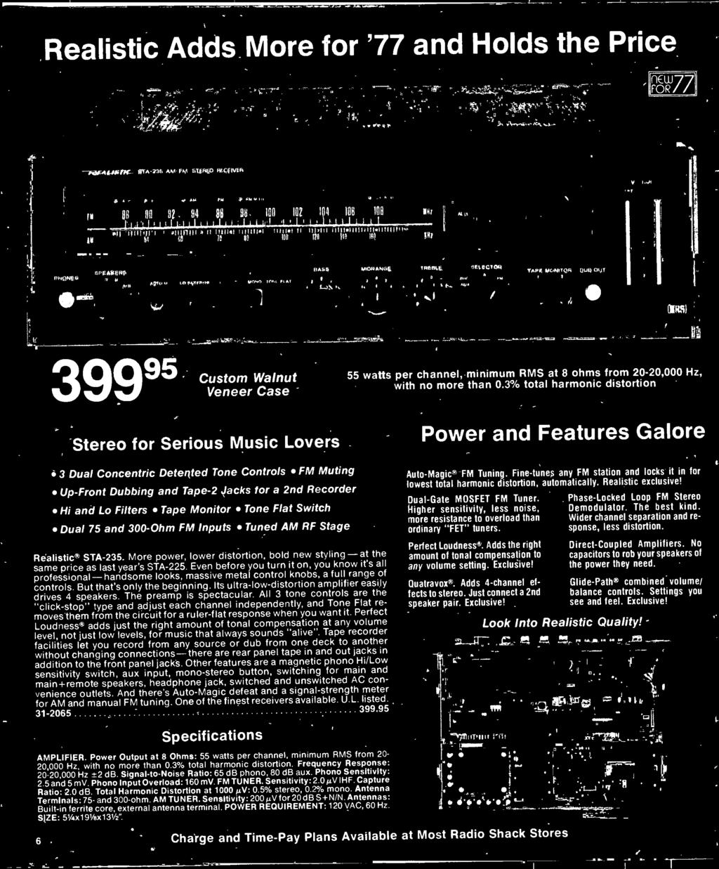 1977 Electronics Catalog Pdf Transistor Organ By 2n4891 3 Total Harmonic Distortion Stereo For Serious Music Lovers Dual Concentric Detented Tone Controls