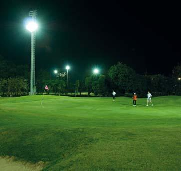 Light pollution Without the need for the external shade the HORO floodlights peak