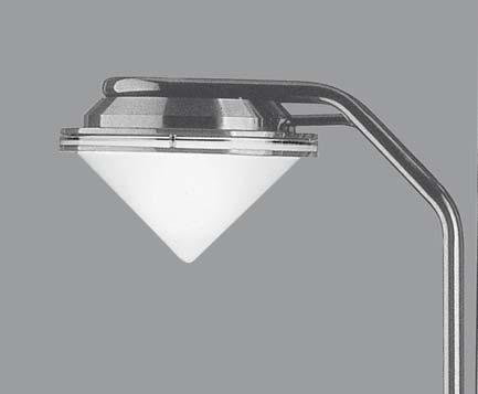 or cone shaped diffuser in frosted glass.