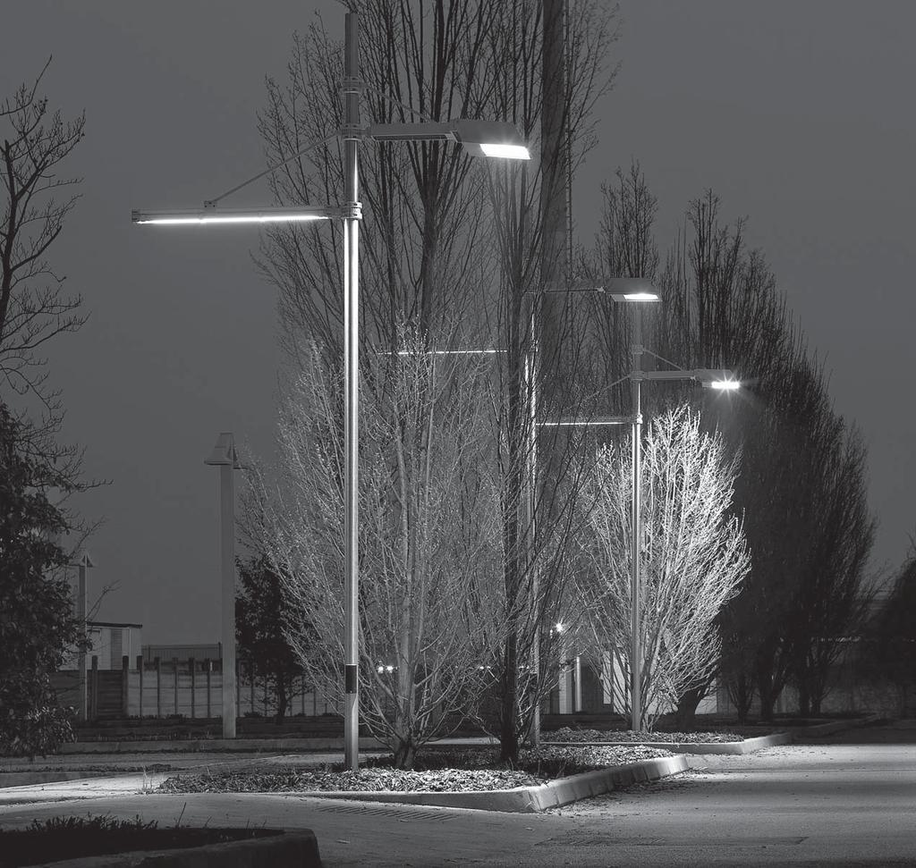 SBP URBAN LIGHTING Luminaires installed with the optical axis