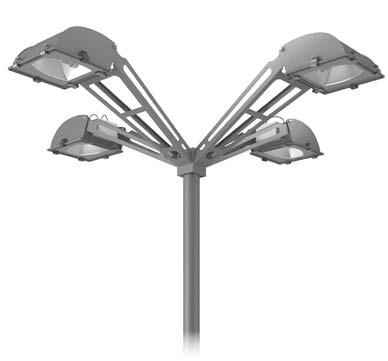 Wall or ceiling mounting outreach arm for 5STARS2 luminaire (A0278).
