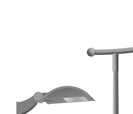 Mounting arm options: - Functional: Outreach arms available up to 2 meters - Design: Mounting arms offering both function