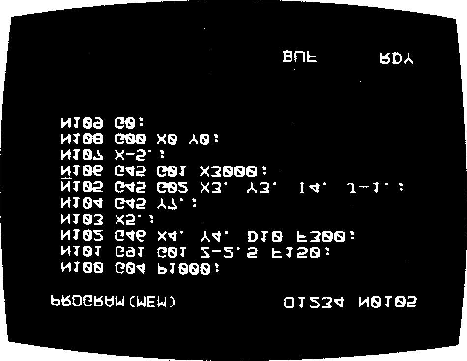 2. 3. Programs written by MD can be repeated by M99. n EDT mode See 4.6 EDT OF PART PROGRAM. n MEM mode This mode permits the display of the program which is running by memory operation.