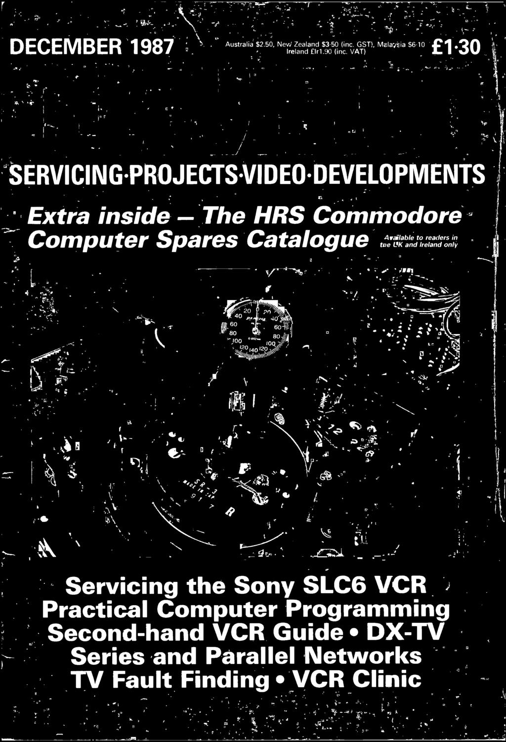 Tv Fault Finding Vcr Clinic Pdf Power Supply Cord Australian Au110p Straight Plug Standard Stripped And Ireland Only Servicing The Sony Slc6 Practical Computer