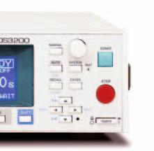 The Leakage Current Tester TOS3200 is designed to test for leakage current (Touch Current and Protective Conductor Current) of general electrical apparatuses, excluding those used for