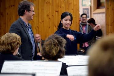 Towards the end of the concert, Luke Dollman invited two students to have a turn at conducting the ensemble.