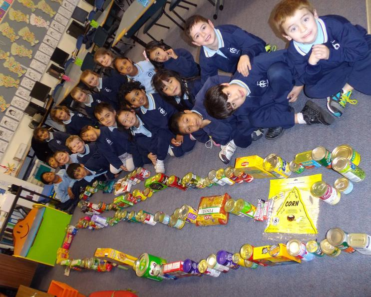 We would like to say a great, big THANK YOU to all the wonderfully generous families who donated food