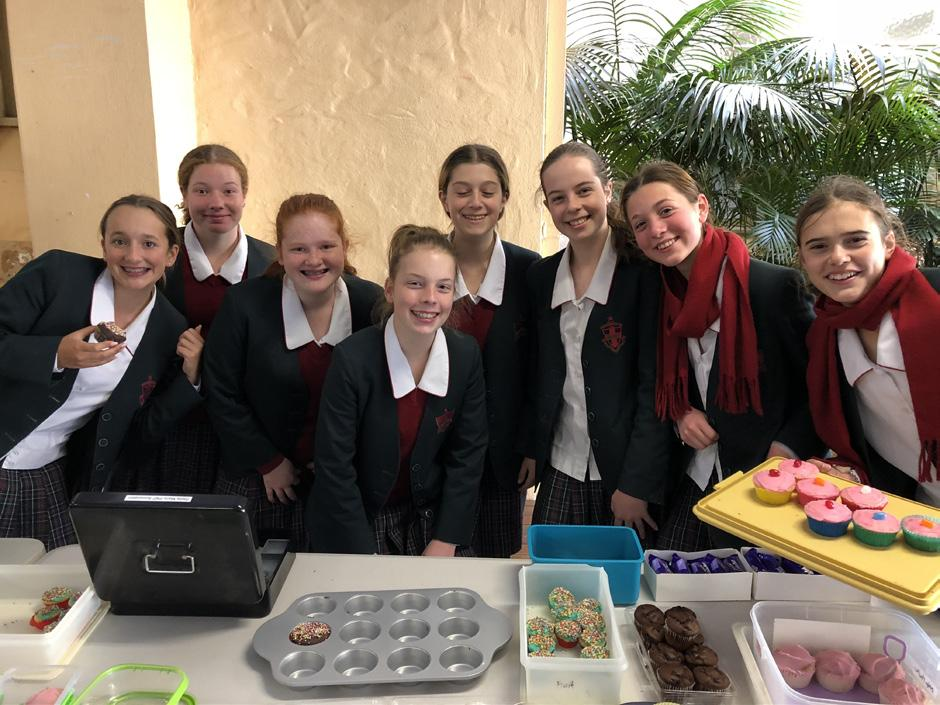 Mia Martin and Isabella Chapman organised a Fiver for a Farmer bake sale to raise