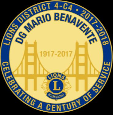 THE CALL TO SERVICE We Serve San Francisco to Palo Alto April 2018 DISTRICT GOVERNOR MESSAGE Dear Fellow Lions: Almost every Lion member knows that in 1925, Helen Keller asked the Lions Club to be