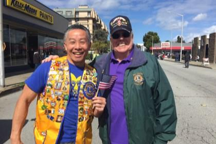 troops. San Francisco Unified Lions with Lion Alvin Louie joining us along the way.