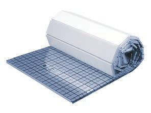 Design of floor heaters - pipe fastening system System KAN therm Tacker System KAN-therm delivers insulation plates with a metalised or laminated plate with an overprint every 5 cm.