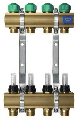 This regulation can be done with: regulation valves on their lower beam of 51A and 71A manifolds, regulation and