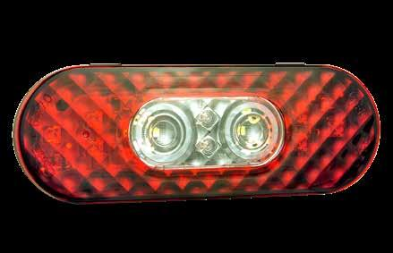 Red LED 2 1//2 Oval LED Clearance Marker Light with Chrome Bezel Red LED 2 1//2 Oval LED Clearance Marker Light with Chrome Bezel Grote 45242-5 Clear