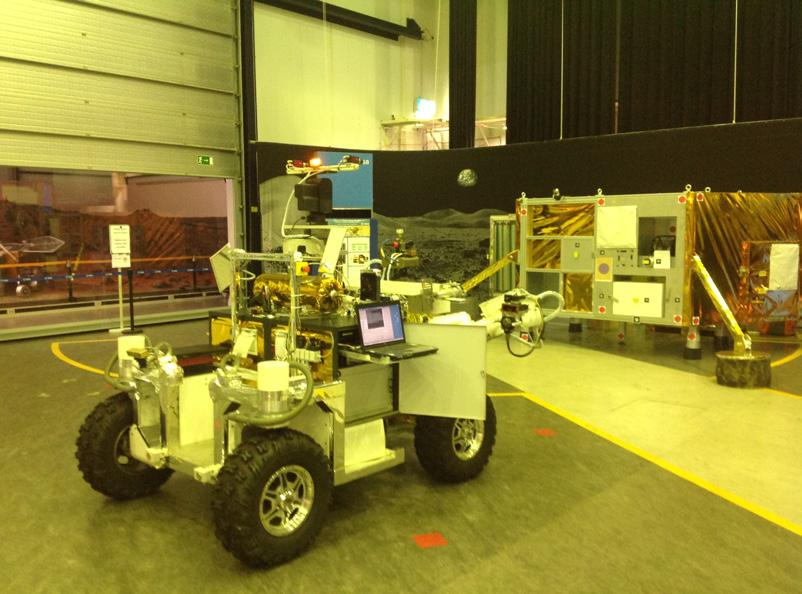 The experiment began in mid-2011 and culminated in a test on 22 October 2012, when Sunita Williams successfully controlled MOCUP, a small prototype rover at ESOC, from the ISS.