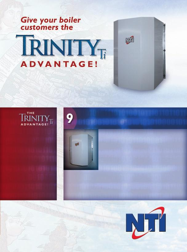 The Trinity from NTI incorporates years of development and the latest in innovative boiler technologies. Choose the Trinity and give your customers the ultimate in quality and efficiency.