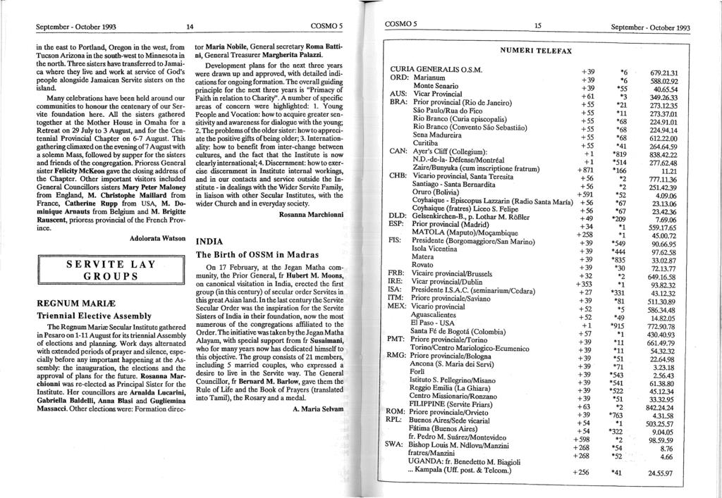 BULLETIN OF THE SECRETARIATE FOR COMMUNICATIONS OF THE