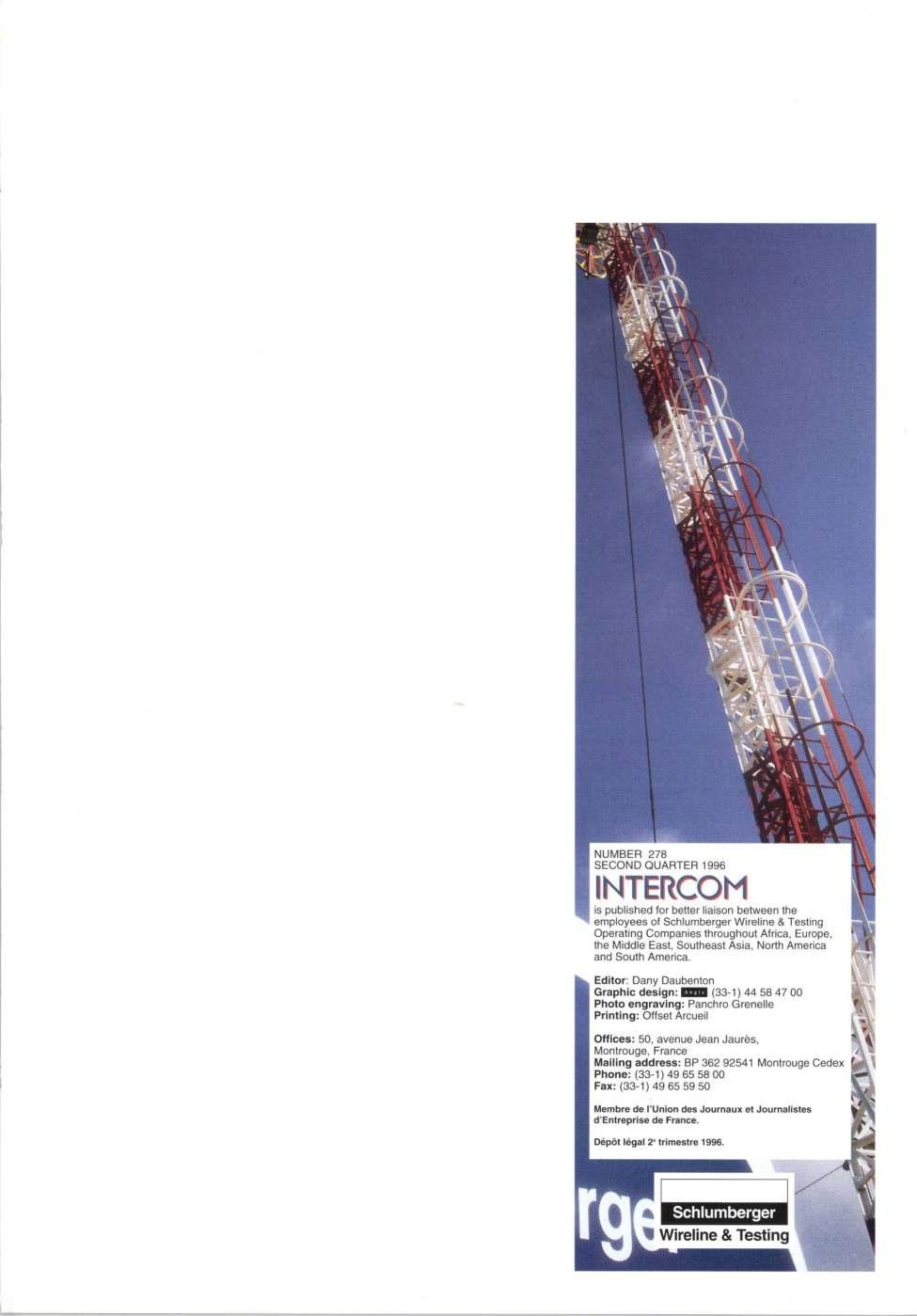 INTERCOM  Wherever the drill goes Schiumberger goes : WC  - PDF