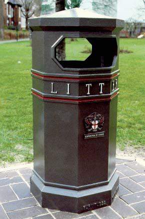 CAST IRON HEAVY DUTY LITTER BIN