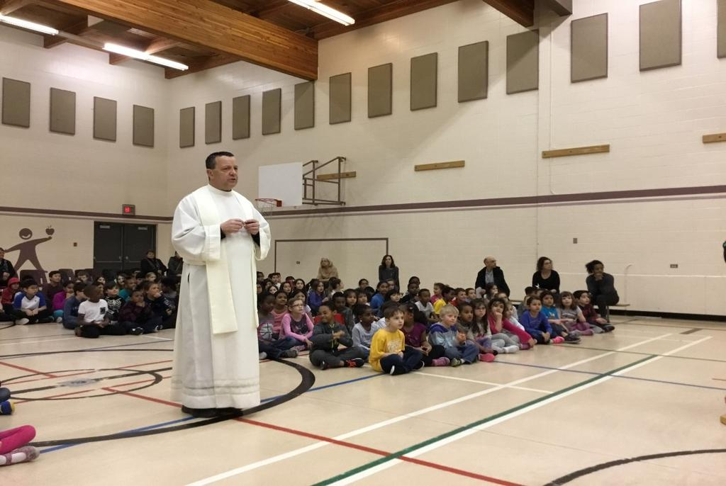 On Wednesday, April 19, we celebrated the resurrection of Christ with Father Paul.