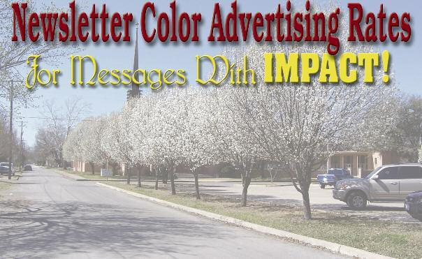 Ad may be provided in cmyk PhotoShop, Adobe Acrobat PDF, or Illustrator EPS formats, or The Chamber will produce your ad