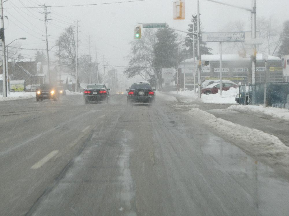February 27, 2013 Slush, Snow and Sleet Blanket London Area Roads as Winter Storm Makes Driving Challenging During of the Morning of February 27, 2013 With temperatures