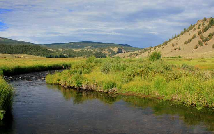 Location: The Sleeping Dog Ranch, perched at an elevation of nearly 9,100 feet, is located in the Gunnison River Basin in the northeast portion of Hinsdale County, Colorado.