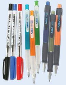RoseArt SRX 5 Bright Coloured Comfort Grip Ball Point Pens Black Ink