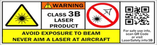 GENERAL SAFETY PRECAUTIONS 2 2.3.3 Class 3B laser Class 3B laser may have an output power of up to 500 mw (half a watt).