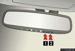 Anti-glare Inside Rear View Mirror The anti-glare mirror uses a sensor to detect light from