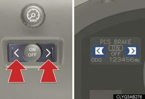 The satellite switches can be used to change the settings of the following items.