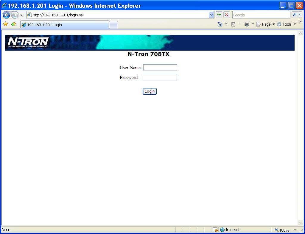 web management feature of the 700 Series.