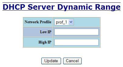 The Dynamic Range type of mapping is used to create a range of dynamic IP addresses for requesting clients.