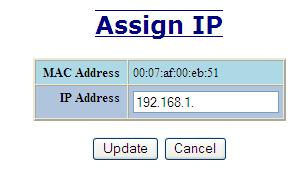 The IP field shows an Auto-detected or manually entered IP address.