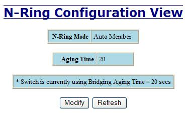 N-Ring Configuration The Configuration tab under the N-Ring category will display the N-Ring basic configuration settings.