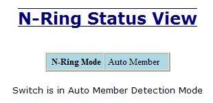 N-Ring Status The Status tab under the N-Ring category will display the N-Ring status.