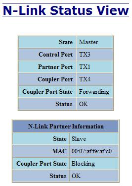 Below is an example of N-Link Status from an