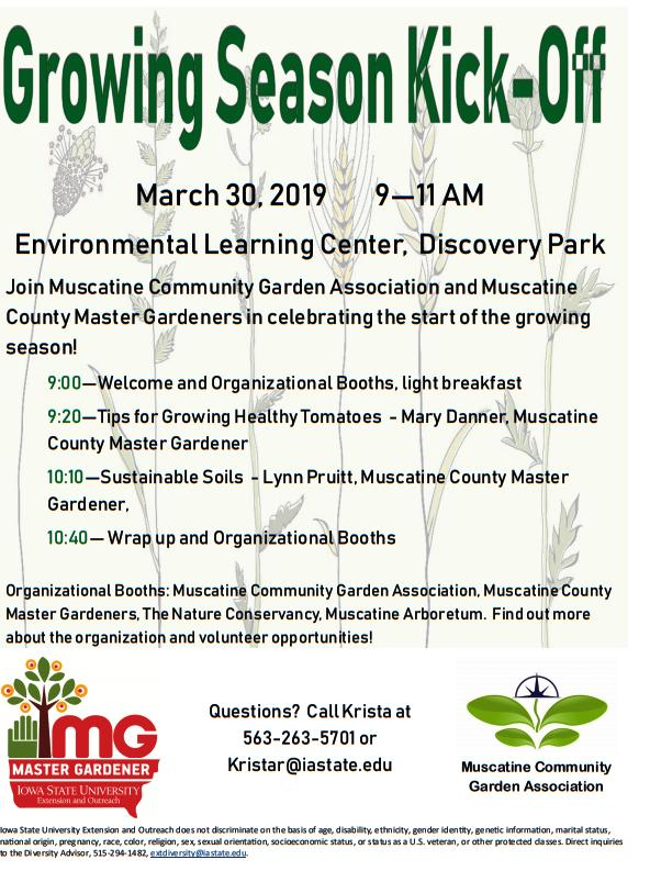 Muscatine Spring Cleanup 2020.March Muscatine County Worthwhile Dirt Pdf