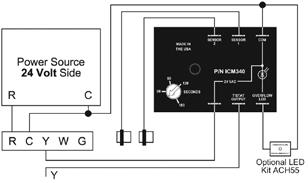 3-Speed Low Voltage ICM Controls ICM6201 Fan and Electric Heat Control Center Replaces Xactone FC//H-1