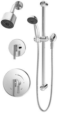 Symmons Dia Shower Trim with Lever Handle 3501-CYL-B-L//HD-TRM POLISHED CHROME