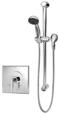 Polished Chrome Symmons 5303-1.5-TRM Museo Hand shower trim with lever handle