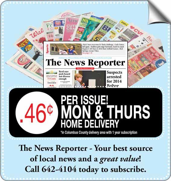2 A The News Reporter Thursday March 17 2016 Missionaries