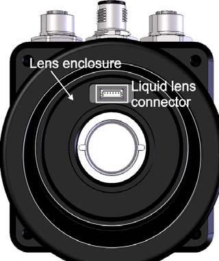 Optionally connecting a liquid lens 27 3. Remove the plug covering the liquid lens connector inside the camera lens housing, using non-conductive tweezers. 4.