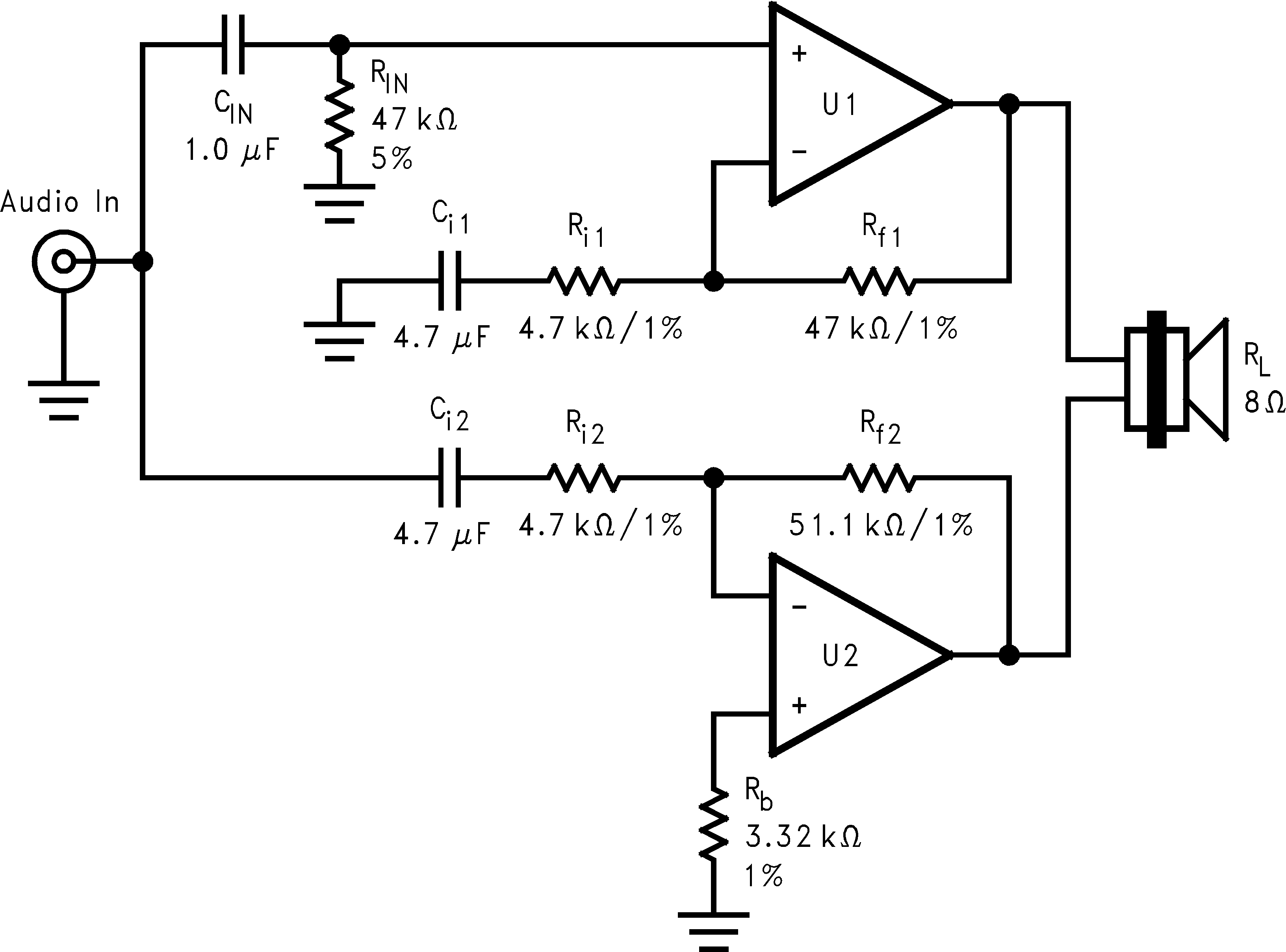 An 1192 Overture Series High Power Solutions Pdf Types Of Op Amp Circuit Br100 100w Bridge 52