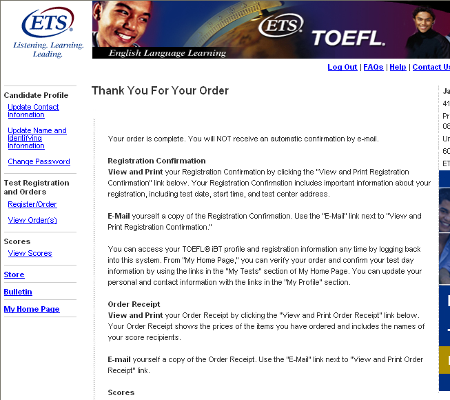 How to Register for the TOEFL ibt Online A Step-by-Step Tutorial - PDF