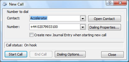 How to Make a call from Outlook Once you have configured Outlook to dial using the VoIP system, you can place calls through your telephone from the application.