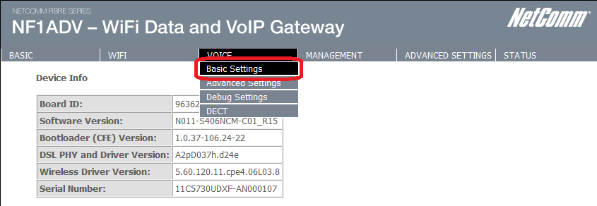 Step 2: Configuring your VOIP settings: Troubleshooting Tip One sided VOIP calls may be an indication of a missing or misconfigured port forwarding rule. 1.
